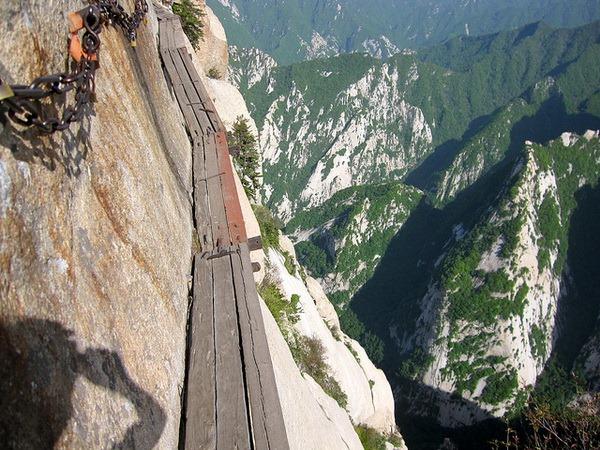 Самая страшная тропа в мире - гора Хуашань